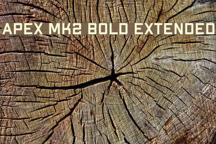 Apex Mk2 Bold Extended Шрифта examples