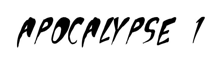 Apocalypse 1  Скачать бесплатные шрифты