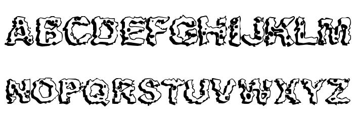 Apocalypshit Font UPPERCASE