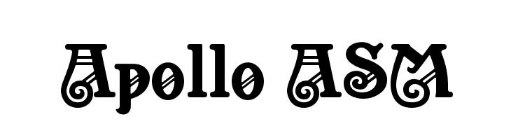 Apollo ASM  नि: शुल्क फ़ॉन्ट्स डाउनलोड