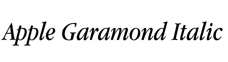 Apple Garamond Italic  Free Fonts Download