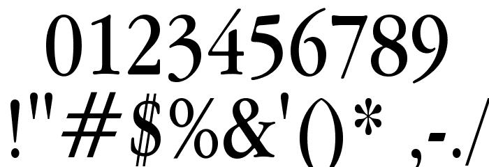 Apple Garamond Font OTHER CHARS