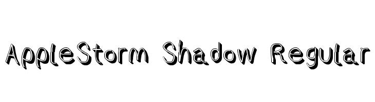 AppleStorm Shadow Regular  Frei Schriftart Herunterladen