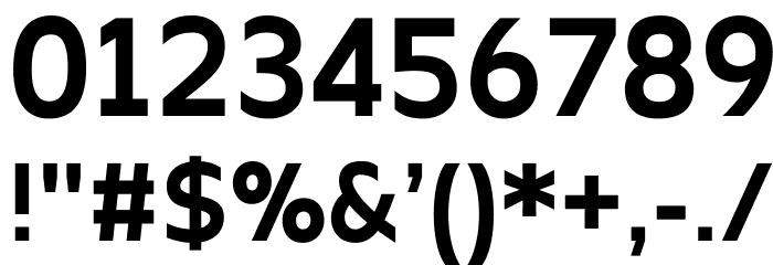 Apricity Bold Font OTHER CHARS