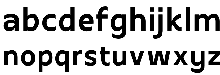 Apricity Bold Font LOWERCASE