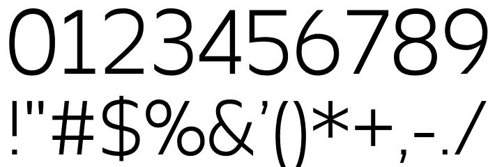 Apricity Шрифта ДРУГИЕ символов