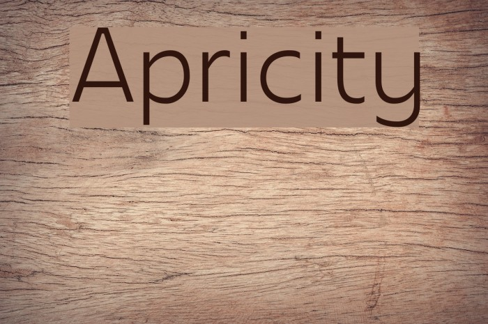 Apricity Шрифта examples