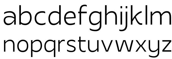 Apricity Шрифта строчной