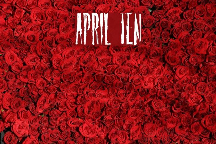 April Ten Font examples