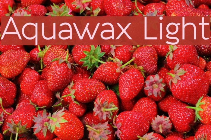 Aquawax Light لخطوط تنزيل examples
