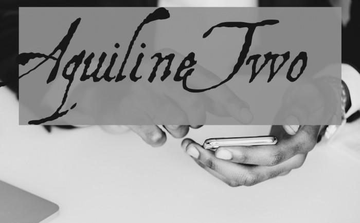 AquilineTwo Font examples