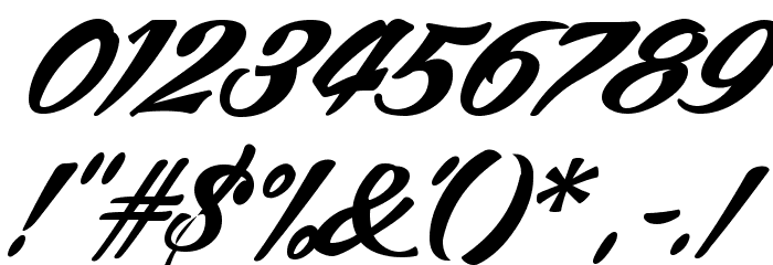 ARB245 Spencerian Script JUN-52 Normal Font OTHER CHARS
