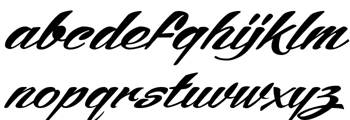 ARB245 Spencerian Script JUN-52 Normal Font LOWERCASE