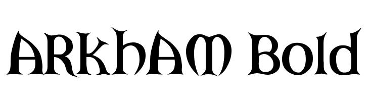 ARKHAM Bold  नि: शुल्क फ़ॉन्ट्स डाउनलोड