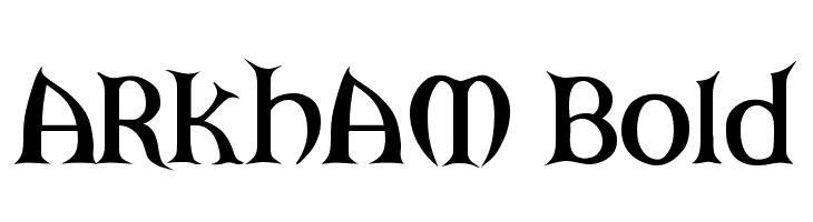 ARKHAM Bold  Descarca Fonturi Gratis