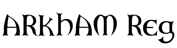 ARKHAM Reg  Free Fonts Download