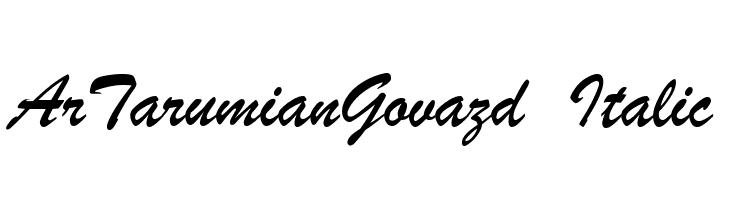 ArTarumianGovazd  Italic  Скачать бесплатные шрифты