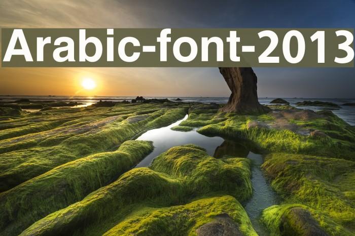 Arabic-font-2013 Font examples