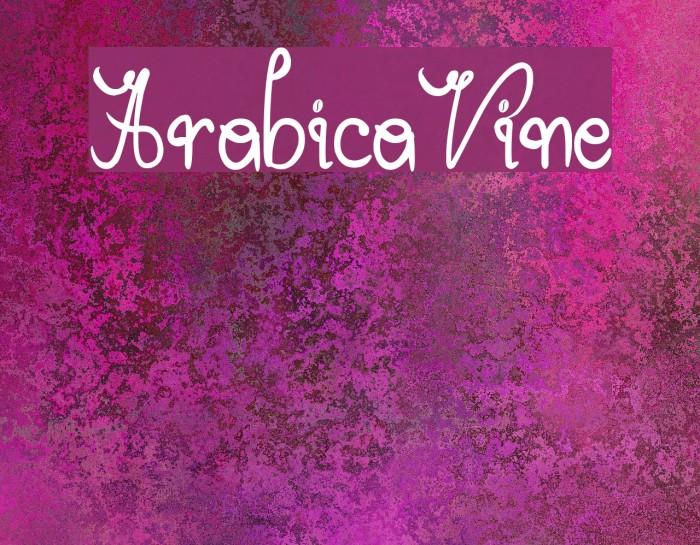 ArabicaVine Fonte examples