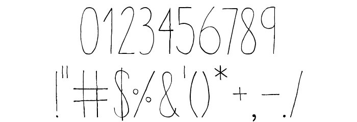 Aracne Condensed Light Шрифта ДРУГИЕ символов