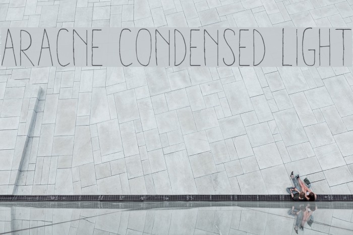 Aracne Condensed Light Шрифта examples