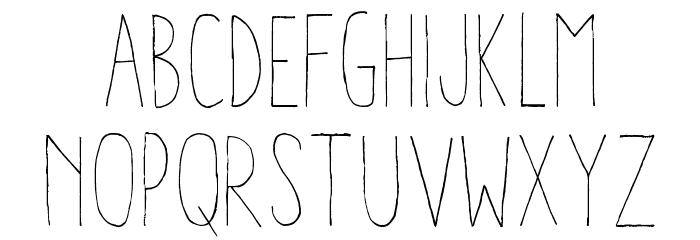 Aracne Condensed Light Шрифта строчной