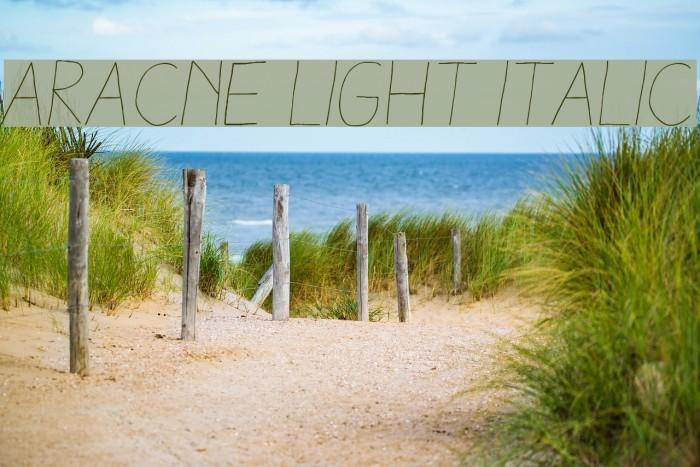 Aracne Light Italic Шрифта examples