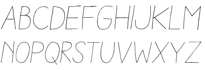 Aracne Light Italic Шрифта строчной