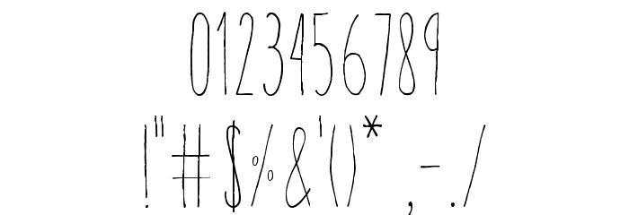 Aracne Ultra Condensed Light Шрифта ДРУГИЕ символов