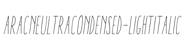 AracneUltraCondensed-LightItalic  Скачать бесплатные шрифты