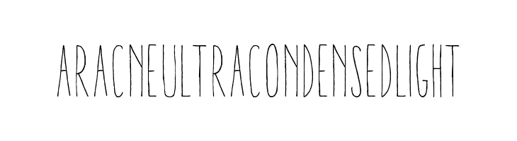 AracneUltraCondensedLight  Free Fonts Download