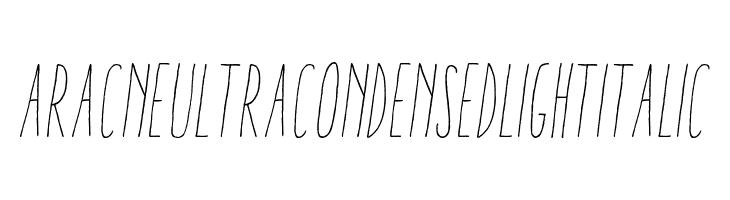 AracneUltraCondensedLightItalic  Скачать бесплатные шрифты