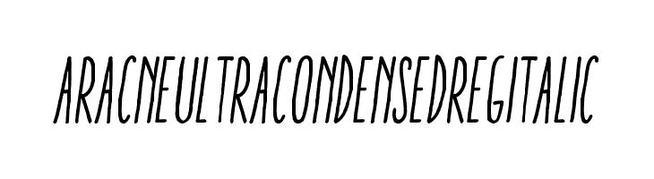 AracneUltraCondensedRegItalic  Скачать бесплатные шрифты