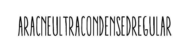 AracneUltraCondensedRegular  Скачать бесплатные шрифты