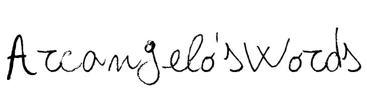 Arcangelo's Words  baixar fontes gratis