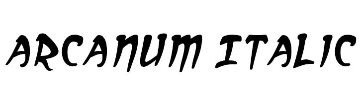 Arcanum Italic  フリーフォントのダウンロード