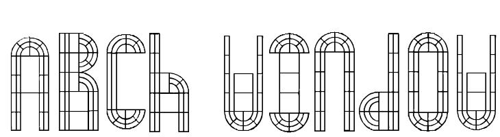 Arch Window  フリーフォントのダウンロード