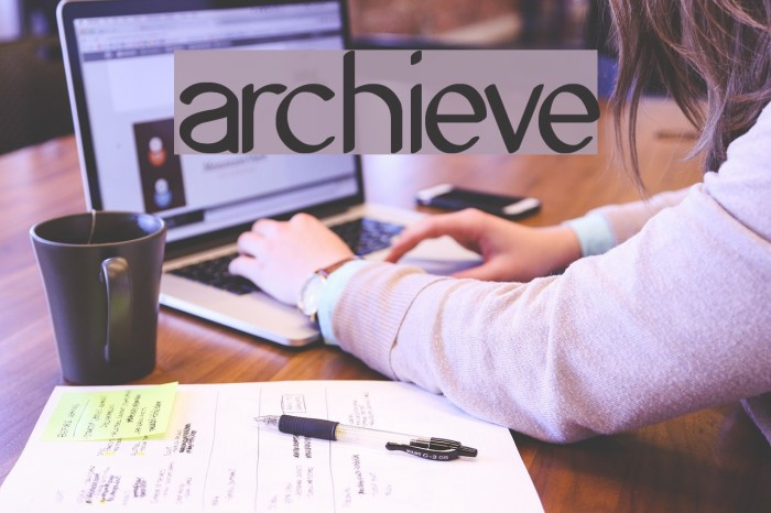 Archieve Font examples