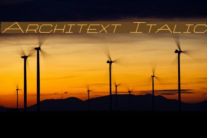 Architext Italic Fonte examples