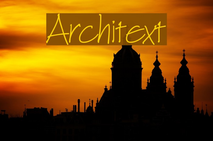 Architext Шрифта examples