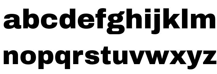 Archivo Black Font LOWERCASE