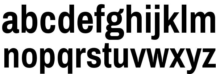 Archivo Narrow Bold Font LOWERCASE