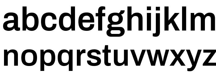 Archivo SemiBold Шрифта строчной