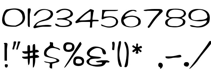 Arctic Regular Font OTHER CHARS