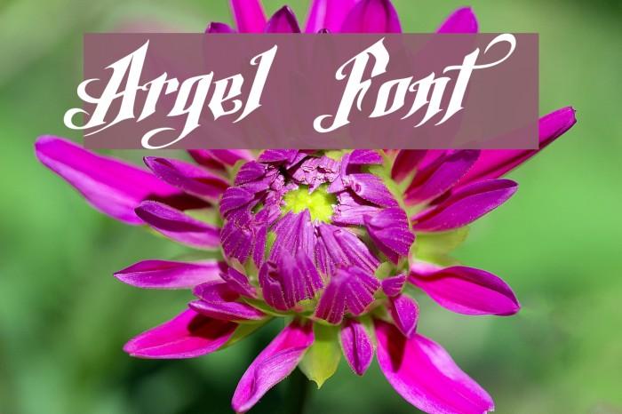 Argel Font Font examples