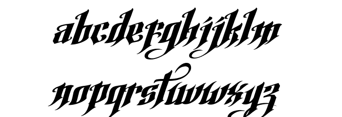 Argel Font Font LOWERCASE