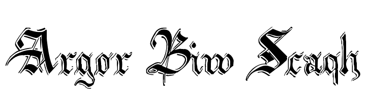 Argor Biw Scaqh  Free Fonts Download