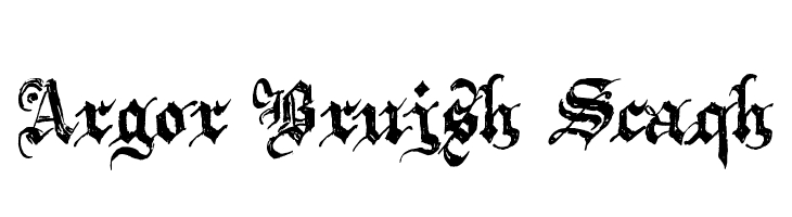Argor Brujsh Scaqh  Free Fonts Download