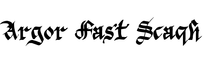 Argor Fast Scaqh  Free Fonts Download