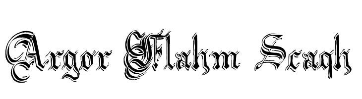 Argor Flahm Scaqh  font caratteri gratis